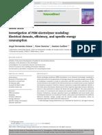 Investigation of PEM electrolyzer modeling