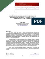 02. Desafíos en El Desarrollo de Intervenciones Profesionales Situadas. Cuestión Social Territorio y Trabajo Social.