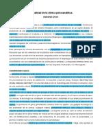 1.4 Actualidad de la clínica psicoanalítica - Duer.pdf