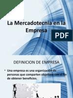 La Mercadotecnia en la Empresa