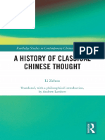 A History of Classical Chinese Thought by Zehou Li