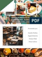 Presentación establecimientos de gastronomía turistics