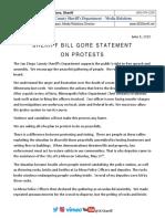 20200601 Sheriff Gore Statement on Protests SDSheriffNewsReleaseEmail16532