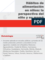 ESTUDIO SOBRE PERCEPCIÓN Y CONOCIMIENTO SOBRE OBESIDAD INFANTIL