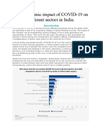 The economic impact of covid-19 on different sectors in India.docx