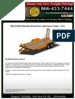 7000 GVWR Standard Wood Floor Skid Steer Trailer - 14 ft. - 06-01-2020