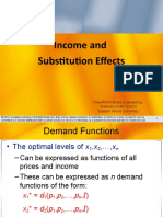 Chapter 5 Income and Substitution Effects