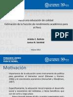 06. Hacia una educación de calidad. Estimación de la función de rendimiento académico para Perú