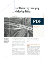 Strategic outsourcing  Leveraging knowledge capabilities MIT