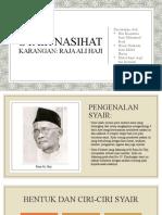 Analisis Syair Nasihat (Raja Ali Haji)