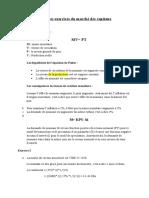 Réponses exercices du marché des capitaux