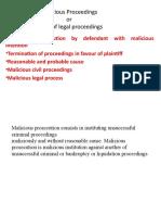 malicious proceedings