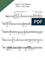 CELLO - Études 11 - En Supens - György Ligeti (arr Sergi Puig) II - Trumpet in Bb - Trombone - Violin - Viola - Cello - Cello