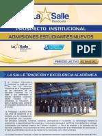 Prospecto 2019-2020 Colegio la  Salle Conocoto