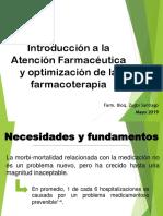 Introducción a la Atención Farmacéutica 2019