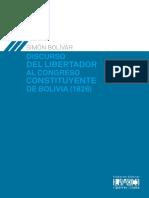 Discurso del Libertador al Congreso Constituyente de Bolivia