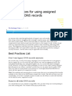 Best practices for using assigned Office 365 DNS records