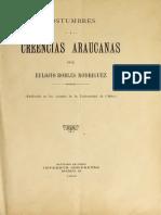 Eulogio Robles - Costumbres y creencias araucanas