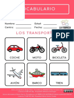 vocabulario los transportes