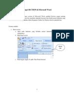 Fungsi SECTION Di Microsoft Word