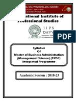 Syllabus MBA MS 5 Yrs 2018