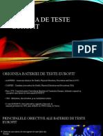 Bateria de teste EUROFIT