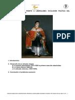 08 Absolutismo frente a liberalismo. Evolución política del reinado de Fernando VII.