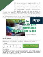 Uso de tiras de LEDs para reemplazar lámparas CCFL en TV LCD