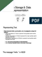Data Represintation and Storage