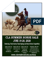 Clovis Horse Sales Summer 2020 Catalog