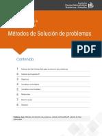 METODOS DE SOLICION DE PROBLEMAS
