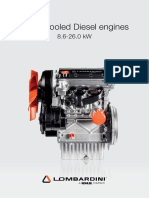 Water cooled Diesel engines