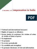 Victim's Compensation in India