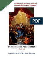 Miércoles de Témporas de Pentecostes. Propio y Ordinario de la santa misa