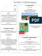 newsletter printemps