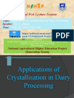 Crystallisation.Faculty Lecture