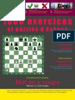 1000 Exercices et Puzzles d'Echecs - Mat en 1, 2, 3 et 4 coups