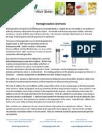 Homogenizer-Overview