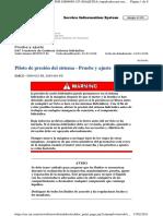 Pilot System Pressure - Test and Adjust D8T