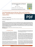 The Relationship between Solvency Ratios and Profitability Ratios- Analytical Study in Food Industrial Companies listed in Amman Bursa[#354446]-365613