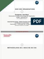Sociologie des organisations - Méthodologie de l'analyse de cas