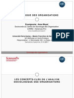 Sociologie des organisations - Séance 3