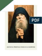 ACATISTUL PĂRINTELUI PAISIE DE LA SIHĂSTRIA