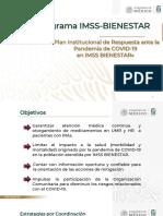 Plan Institucional de Respuesta ante la Pandemia por COVID-19 en IMSS Bienestar