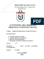 Autonomia Del Derecho Procesal Constitucional Upt
