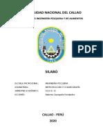 Silabo de Oceanología 2020
