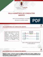 DEMOSTRACIÓN FALLA ASIMÉTRICA DE CONDUCTOR ABIERTO