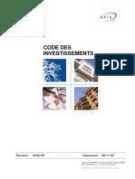 CODE DES INVESTISSEMENT