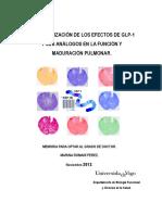 Caracterización de los efectos de GLP-1