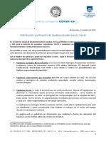 Comunicado Comité Contingencia 21-04-20